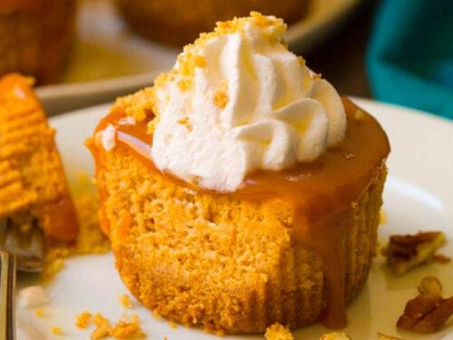 mini pumpkin cheesecake bites recipe